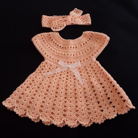 Handmade Dresses Baby Girl Crochet Dress Set New Poshmark